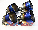 Rexspeed Titanium Blue Tips Nissan GT-R 2008-16