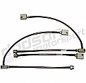 Dodson Braided Brake Hose Kit Motorsport, FMVSS-106 Compliant Nissan GT-R 2009-17