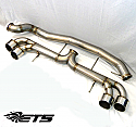 "ETS 4.0"" -102mm- Stainless Steel *RACE* Exhaust System Nissan GT-R 2008-17"