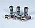 KICS R40 Neo Chrome Lug Nuts