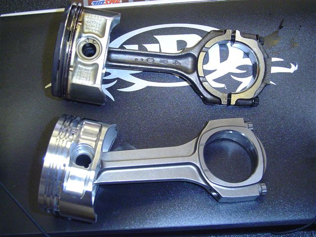 Stock Rod and Piston vs. Pauter Rod and Forged Piston