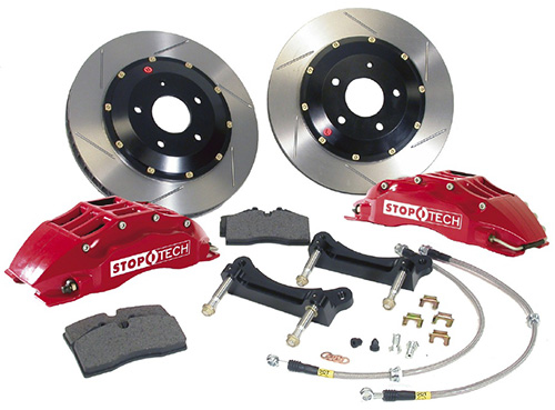 StopTech Front 14 Inch 6 Piston Big Brake Kit Nissan 370Z Base Touring 2009-15