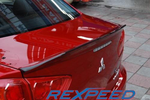 Rexpeed Duckbill Trunk Spoiler - Carbon Strip Mitsubishi Evolution X 2008-14