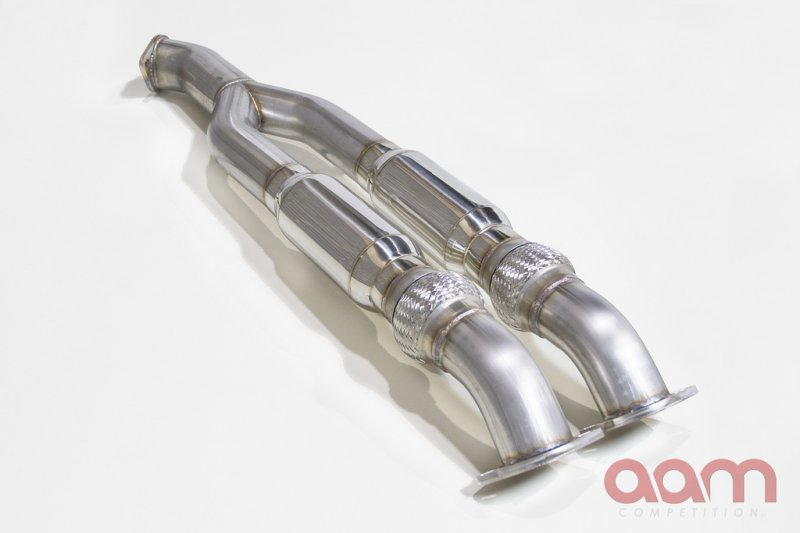 """AAM Competition Resonated 3 to 3.5"""" Midpipe Nissan GT-R 2008-17"""