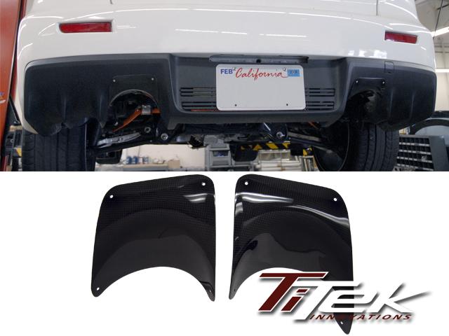 TiTek Carbon Fiber Rear Burn Shield Mitsubishi Evolution X