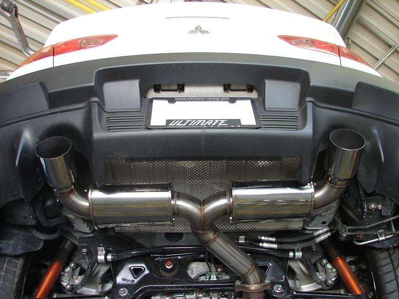 "Ultimate Racing Dual 3"" Exhaust Mitsubishi Evolution X"