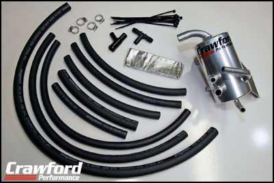 Crawford Air Oil Separator V2 For Top Mount Intercooler Subaru WRX & STi 2008-14