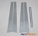 Rexpeed Carbon Fiber Pillar Trim Mitsubishi Evolution VIII & IX 2003-07