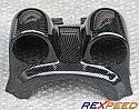 Rexpeed Steering Wheel Carbon Guage Pod Dual Mitsubishi Evolution VIII & IX 2003-07