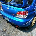 Beatrush Rear Tow Hook Red Subaru WRX & STi 2002-07