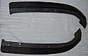 Rexpeed JDM Carbon Fiber Rear Bumper Extensions Mitsubishi Evolution VIII 2003-05