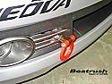 Beatrush Front Tow Hook Red Subaru WRX & STi 2008-14
