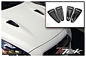 TiTek Carbon Fiber Hood Ducts - Gloss - Nissan GT-R 2009-16