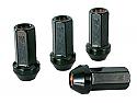 Rays 17 HEX Racing Lug Nut 12X1.25 Flat Black (4-PACK)