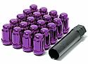 Muteki Classic Lug Nuts Short Closed End - Purple -