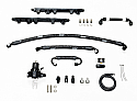 GT1R Fuel Line Kit With Rails - 8AN