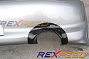 Rexpeed Carbon Exhaust Shield USDM Bumper Mitsubishi Evolution VIII & IX 2003-07