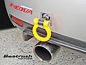 Beatrush Rear Tow Hook Yellow Subaru WRX & STi 2008-14